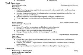 Secretary Sample Resume by Perfect Secretary Resume Reentrycorps