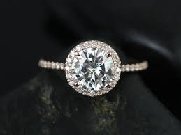 circle engagement ring with halo engagement rings stunning engagement rings moissanite stunning
