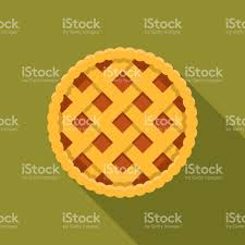 apple pie flat design thanksgiving icon stock vector more