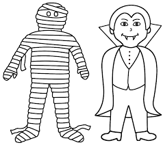 cute halloween mummy coloring pages getcoloringpages com