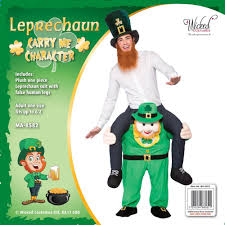 carry me leprechaun costume one size amazon co uk toys