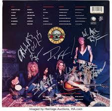 guns n u0027 roses signed appetite for destruction lp with backstage