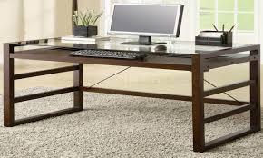 Glass Top Desk Office Depot Highest Rated Glass L Shaped Desk Office Depot U2039 Htpcworks Com
