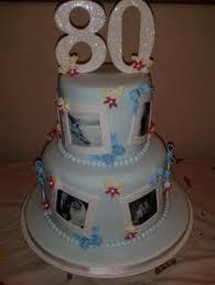 80th birthday cake beautiful border cakes pinterest 80th