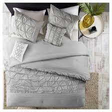 Light Comforters Light Gray Karter Comfort Washed Cotton Multiple Piece Comforter