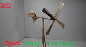 how to make a wind turbine out of popsicle sticks youtube