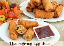 kitchen simmer thanksgiving egg rolls with cranberry sauce dipping