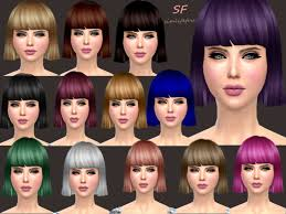 custom hair for sims 4 the sims 4 women s bob hairstyle free download