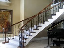 Stairway Banister Articles With Stair Railing Ideas Metal Tag Stair Rail Ideas