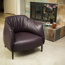 chairs purple leather club chair brown and ottoman living room