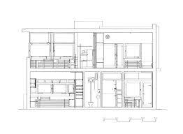 schindler chace house in plan section and elevation sloping pla