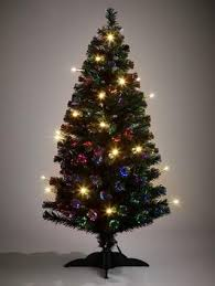 5ft fibre optic christmas tree with led candles very co uk