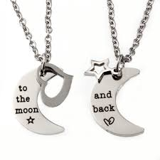 couple necklace images Love you to the moon and back lt br gt couple necklace set gif