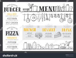 food menu restaurant cafe design template stock vector 605375249