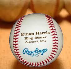 wedding keepsake gifts personalized baseball engraved ring bearer groomsmen and best