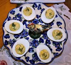deviled egg plate dill deviled eggs with yogurt and fresh herbs