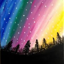 how to paint northern lights northern lights painting acrylic painting from preethiart