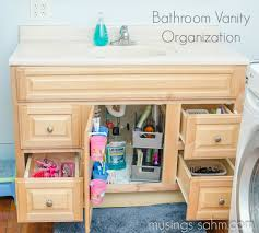 how i organized our bathroom vanity living well mom