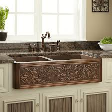 double bowl farmhouse sink with backsplash kitchen sink with backsplash elegant 33 vine design 60 40 offset