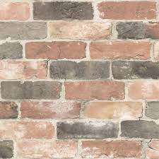 Peal And Stick Wall Paper Nuwallpaper Newport Reclaimed Brick Peel And Stick Wallpaper