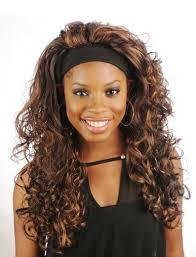 headband wigs inches afro impressive long curly headband half wigs