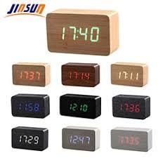 bureau num駻ique prix jinsun réveil sound en bois led horloge carré style