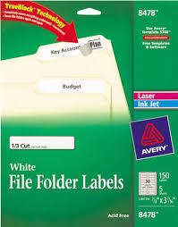 avery print write on hanging tabs 1 5 tab 2 1 16 white 90 pack