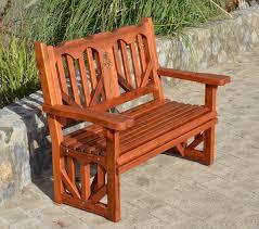 outdoor redwood bench forever redwood