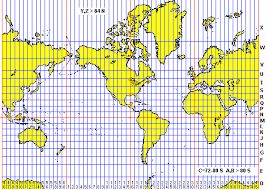 utm zone map the universal transverse mercator system