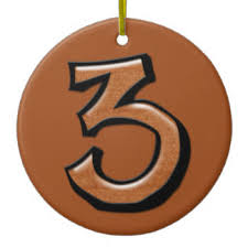 number 3 ornaments keepsake ornaments zazzle