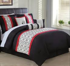 Grey And White Bedding Sets Reversible Red And White Gray Striped King Comforter Set With Red