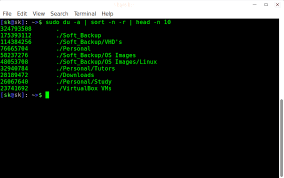 tutorial linux sort find largest and smallest directories and files in linux