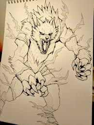 draw a werewolf