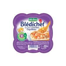 cuisine 18 mois blédina blédichef carottes coquillettes des 18 mois 260g mon