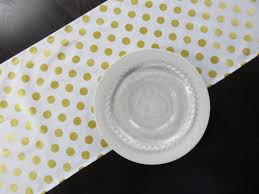 gold polka dot table cover gray and white polka dot table runner table runners