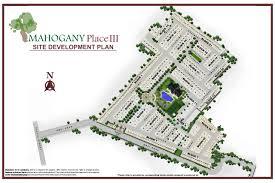 site development plan of house home design mahogany3 sdp dmci