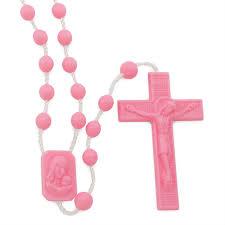 pink rosary pink plastic rosary sku 096p rosarymart