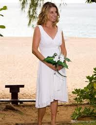 discount 2017 summer casual beach wedding dresses v neck