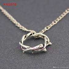 crown of thorns necklace wholesale crown of thorns charm necklaces ring pendants