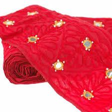 ribbon fabric neotrims salwar sari cotton fabric indian mirror embroidery