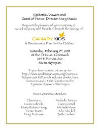 canary kids fundraiser invite maria rickert hong