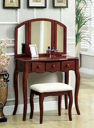 Wood Vanity Table Furniture Great Furniture For White Bedroom Decoration Using