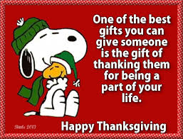 happy thanksgiving i snoopy happy