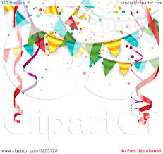 Flag Banner Clip Art Clipart Of A Border Frame Of Colorful Party Balloons Royalty