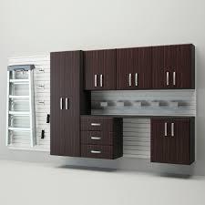 Flow Wall Deluxe Modular Wall Mounted Garage Cabinet Storage Set