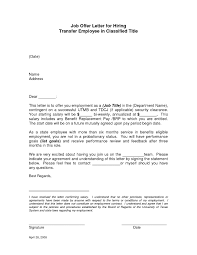 best photos of offer of employment job offer letter sample job