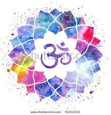 Lotus Flower With Om Symbol - om stock images royalty free images u0026 vectors shutterstock