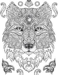 wolf coloring pages for older kids detailed printable coloring