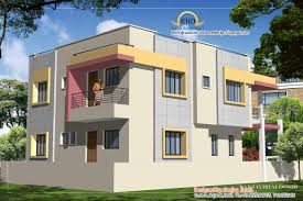 duplex home gujarat house plan and elevation sq ft taste in heaven