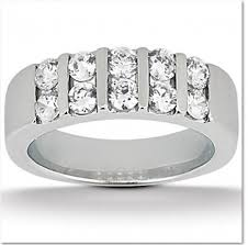 channel set wedding band two row channel set diamond wedding band in wedding bands excel